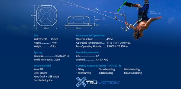 Xensr trackers tracking sport kitesurf jump tricks-5