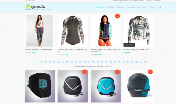 gemsita shop surf femmes