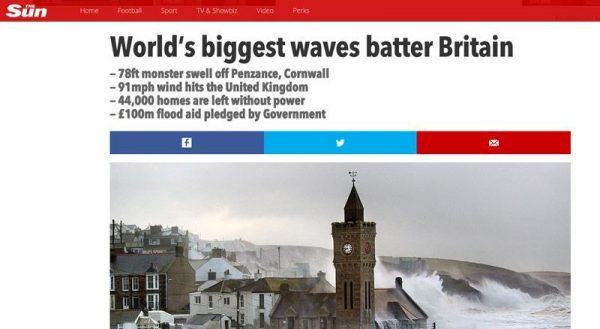 Sun-Headline-Big-Waves-Cornwall-Newquay-kite4all