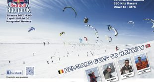 Compétiton de snowkite redbull ragnarok en Norvège